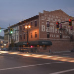 Downtown Tipp City Ohio at twilight with cars streaking by Dan Cleary of Cleary Creative Photography in Dayton Ohio