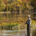 Fly fisherman at the Miami River, Miaimi County Ohio by Dan Cleary of Cleary Creative Photography in Dayton Ohio